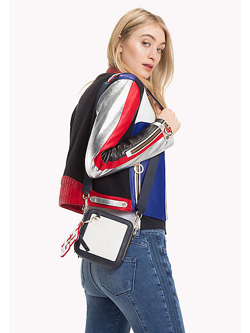TOMMY HILFIGER Gigi Hadid Square Crossover Bag - TOMMY NAVY/ BRIGHT WHITE - TOMMY HILFIGER Bags & Accessories - detail image 1