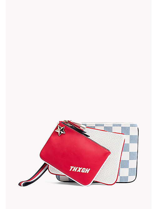 TOMMY HILFIGER Gigi Hadid Triple Pouch - CORPORATE DNM MIX - TOMMY HILFIGER Clutch Bags - main image