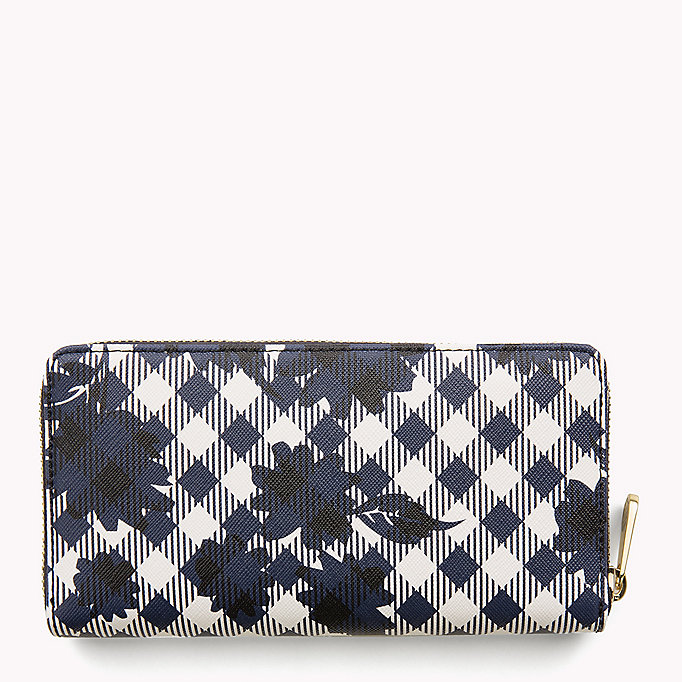 TOMMY HILFIGER Zipped Stripe Print Wallet - CORPORATE MIX - TOMMY HILFIGER Bags & Accessories - detail image 1