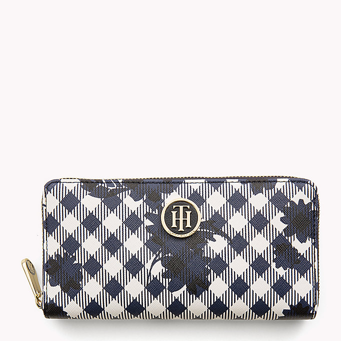 TOMMY HILFIGER Zipped Stripe Print Wallet - CORPORATE MIX - TOMMY HILFIGER Bags & Accessories - main image