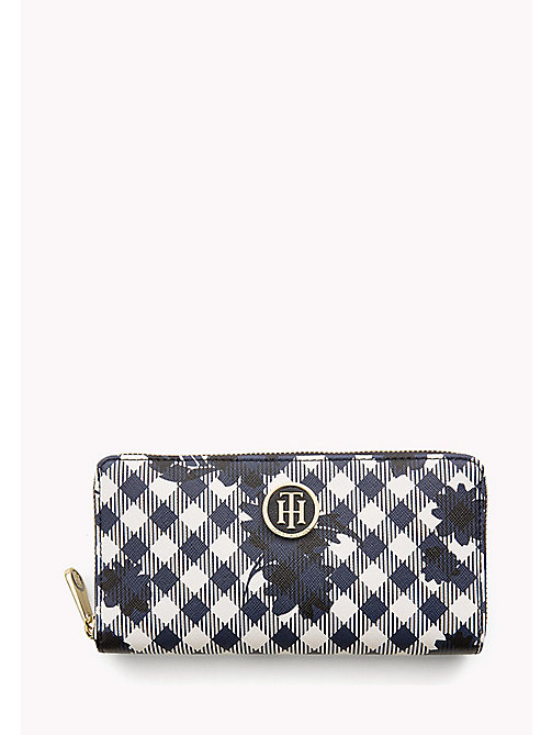 TOMMY HILFIGER Zipped Stripe Print Wallet - GINGHAM - TOMMY HILFIGER Bags & Accessories - main image