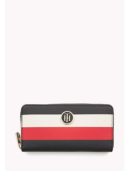 TOMMY HILFIGER Zipped Stripe Print Wallet - CORPORATE MIX - TOMMY HILFIGER Purses - main image