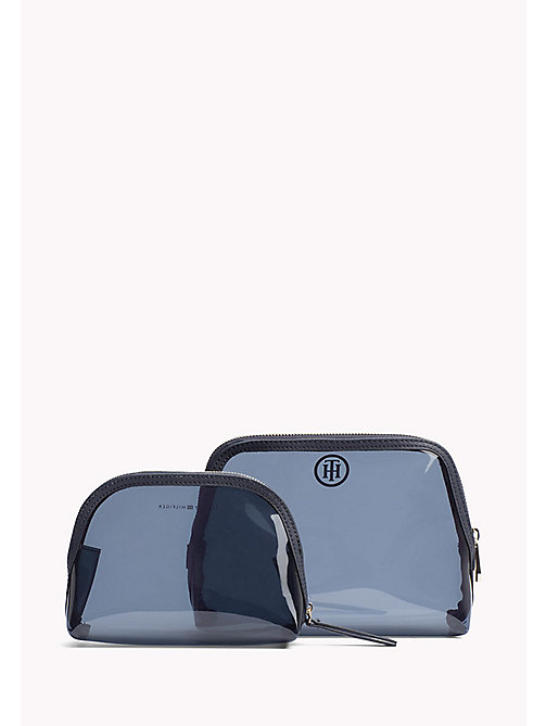 TOMMY HILFIGER Clear Two-in-One Wash Bag - TRANSPARENT NAVY - TOMMY HILFIGER Make Up Bags - detail image 1