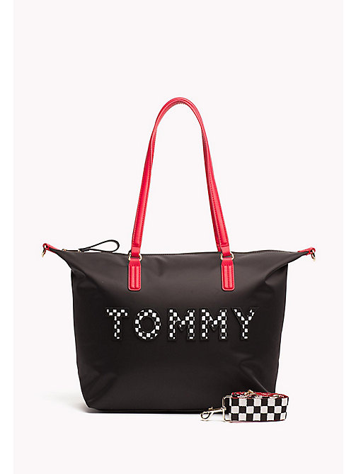 TOMMY HILFIGER Logo Tote Bag - TOMMY PRINT - TOMMY HILFIGER Tote Bags - main image