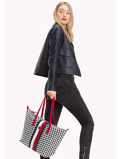 TOMMY HILFIGER Chequerboard Tote Bag - CHECKER BOARD - TOMMY HILFIGER Tote Bags - detail image 1