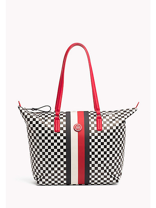 TOMMY HILFIGER Torba typu tote w szachownicę - CHECKER BOARD - TOMMY HILFIGER Bags & Accessories - main image