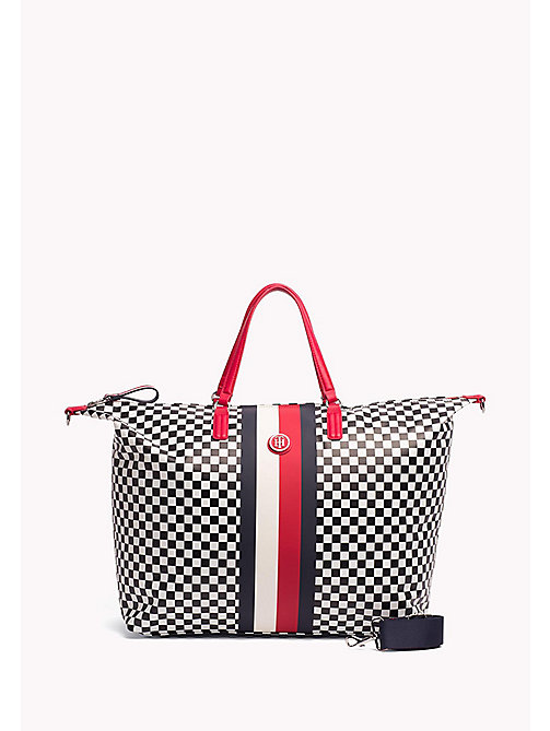 TOMMY HILFIGER Chequerboard Weekend Bag - CHECKER BOARD - TOMMY HILFIGER Duffle Bags - main image