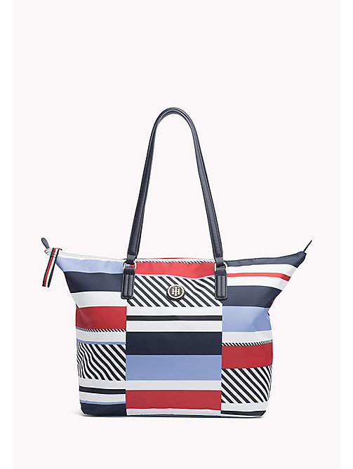 TOMMY HILFIGER Torba typu tote w pasy - PATCHWORK STRIPE - TOMMY HILFIGER Bags & Accessories - main image