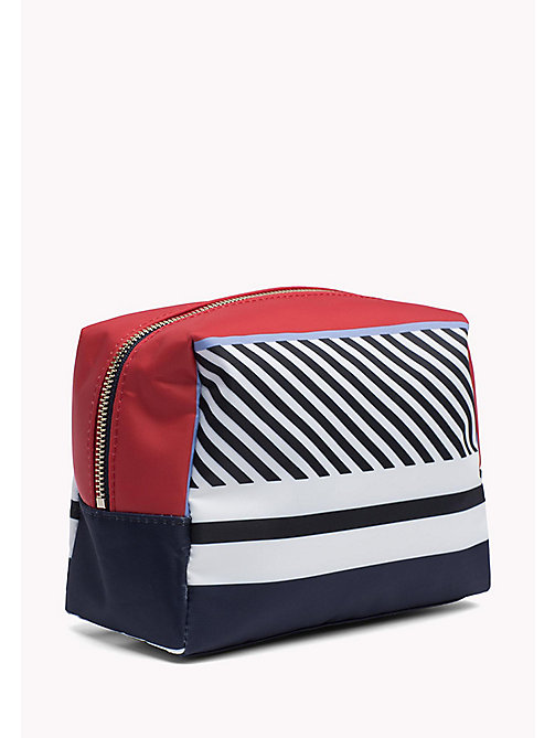 TOMMY HILFIGER Colour-Blocked Wash Bag - MULTI STRIPE - TOMMY HILFIGER Make Up Bags - detail image 1