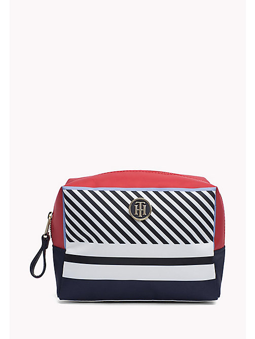 TOMMY HILFIGER Colour-Blocked Wash Bag - MULTI STRIPE - TOMMY HILFIGER VACATION FOR HER - main image