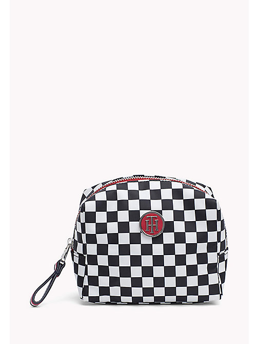 TOMMY HILFIGER Checkerboard Print Makeup Bag - CHECKER BOARD - TOMMY HILFIGER Make Up Bags - main image