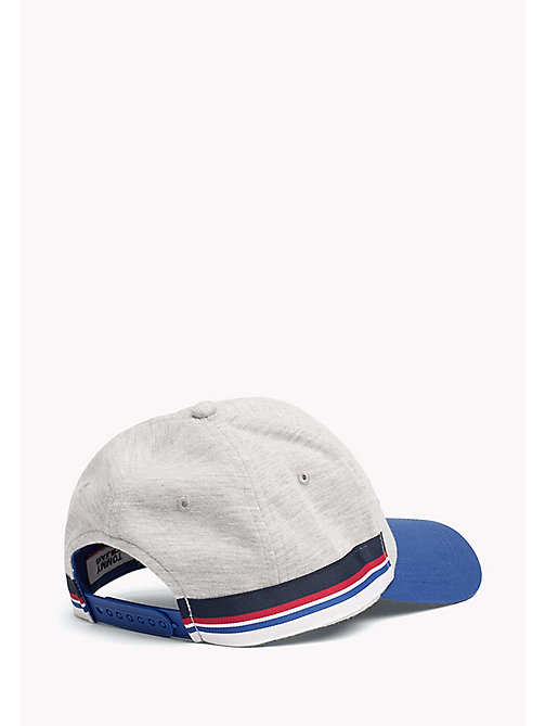 TOMMY JEANS Cotton Logo Cap - LT GREY HTR - TOMMY JEANS Tommy Jeans Shoes & Accessories - detail image 1