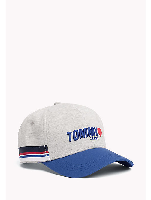 TOMMY JEANS Cotton Logo Cap - LT GREY HTR - TOMMY JEANS Tommy Jeans Shoes & Accessories - main image