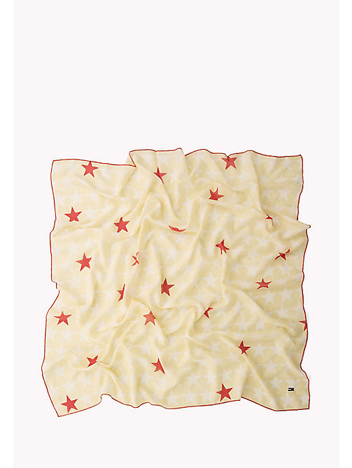 TOMMY JEANS Star Print Scarf - OATMEAL-BRIGHT WHITE - TOMMY JEANS Bags & Accessories - detail image 1