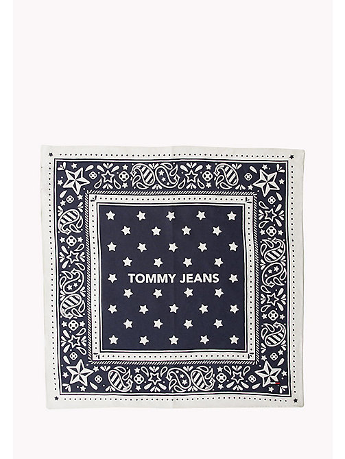 TOMMY JEANS Square Bandana Scarf - BLACK IRIS- BRIGHT WHITE - TOMMY JEANS Bags & Accessories - detail image 1