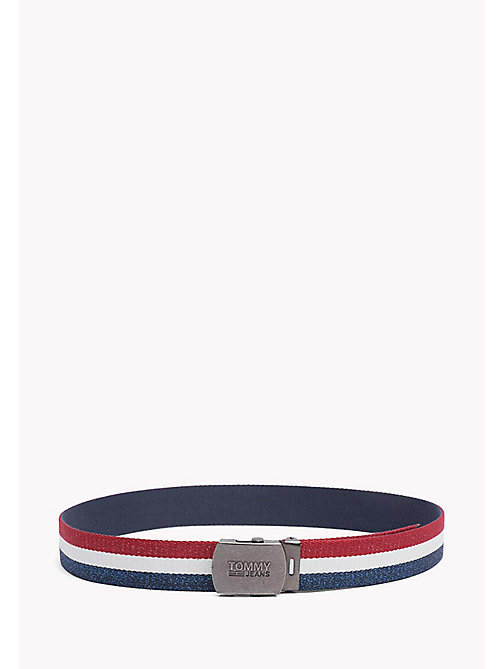 TOMMY JEANS TJW WEBBING BELT - CORPORATE GLITTER - TOMMY JEANS Tommy Jeans Accessories - main image