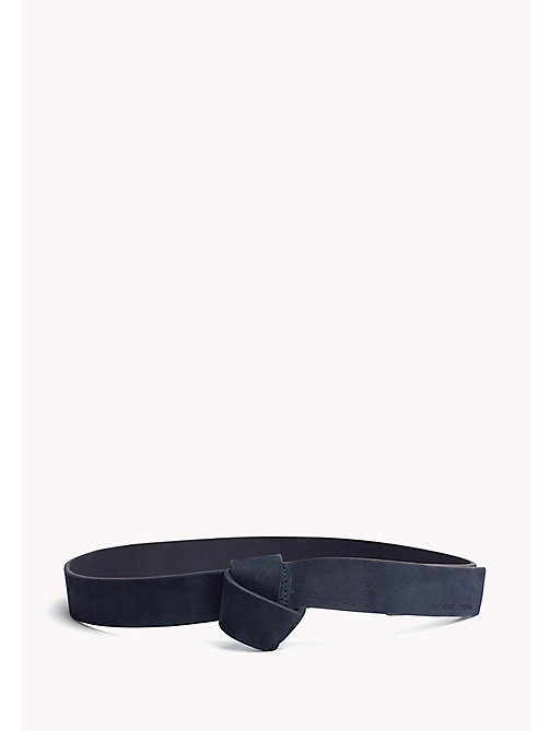 TOMMY JEANS Suede Wrap Belt - TOMMY NAVY - TOMMY JEANS Bags & Accessories - main image