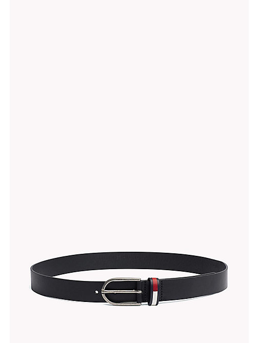 TOMMY JEANS TJW FLAG INLAY BELT 3.0 - BLACK - TOMMY JEANS Tommy Jeans Accessoires - main image