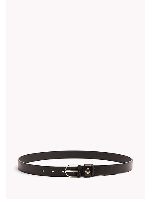 TOMMY HILFIGER Metal Detail Leather Belt - BLACK - TOMMY HILFIGER Belts - main image