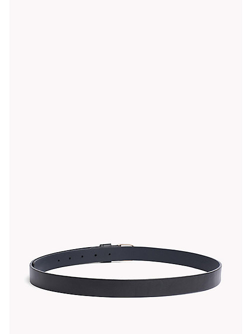 TOMMY HILFIGER Metal Detail Leather Belt - TOMMY NAVY - TOMMY HILFIGER Belts - detail image 1