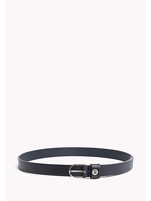 TOMMY HILFIGER Metal Detail Leather Belt - TOMMY NAVY - TOMMY HILFIGER Belts - main image