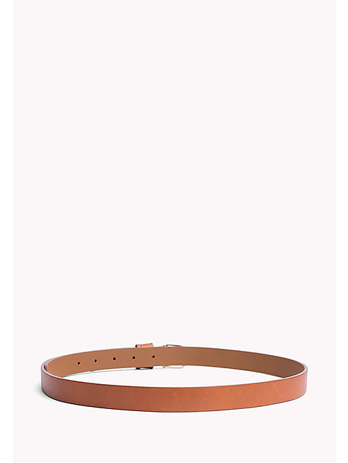 TOMMY HILFIGER Metal Detail Leather Belt - DARK TAN - TOMMY HILFIGER Belts - detail image 1
