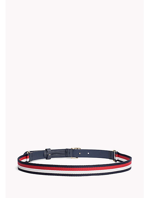 TOMMY HILFIGER Signature Stripe Leather Belt - CORPORATE - TOMMY HILFIGER NEW IN - detail image 1