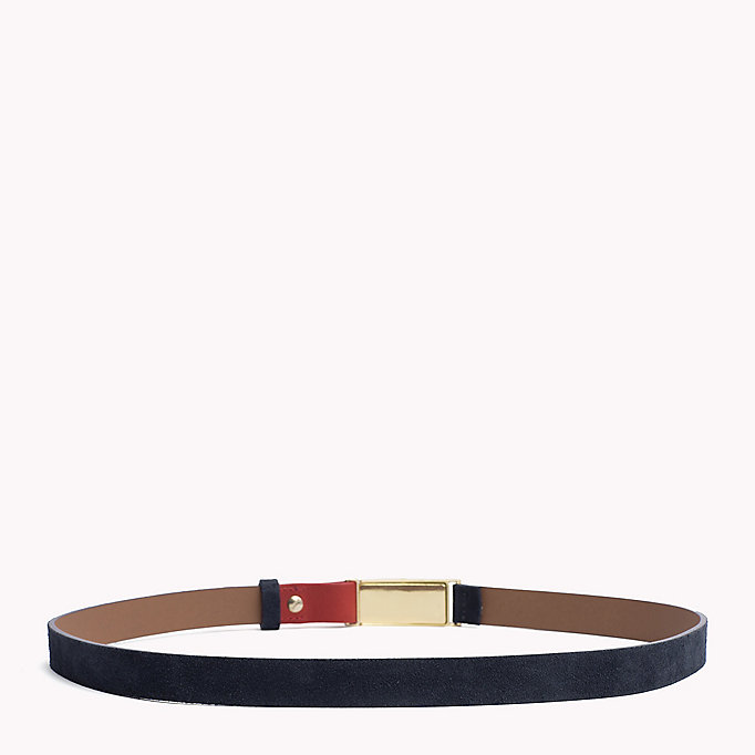 TOMMY HILFIGER Metal Plaque Leather Belt - NEUTRAL-TAN - TOMMY HILFIGER Women - detail image 1