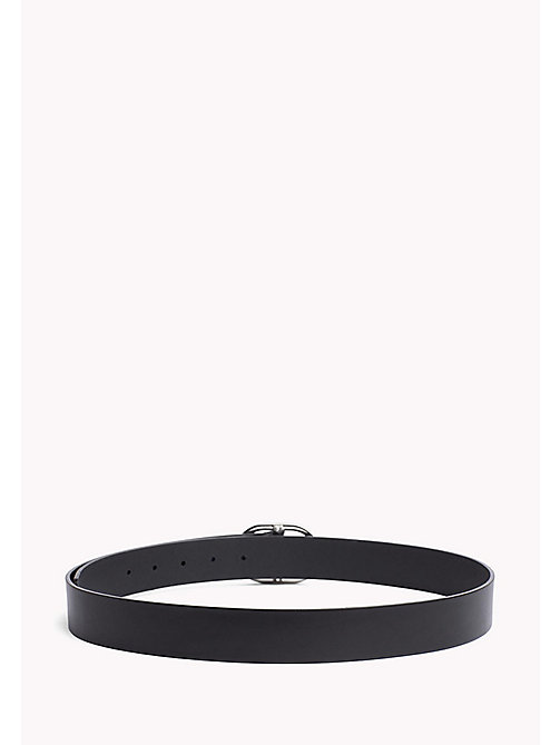 TOMMY HILFIGER Oval Buckle Leather Belt - BLACK - TOMMY HILFIGER Belts - detail image 1