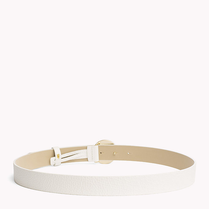 TOMMY HILFIGER Statement Round Buckle Leather Belt - TOMMY NAVY - TOMMY HILFIGER Women - detail image 1
