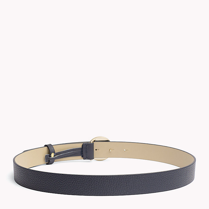 TOMMY HILFIGER Statement Round Buckle Leather Belt - DARK TAN - TOMMY HILFIGER Women - detail image 1
