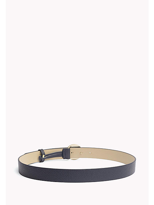 TOMMY HILFIGER Statement Round Buckle Leather Belt - TOMMY NAVY - TOMMY HILFIGER Belts - detail image 1