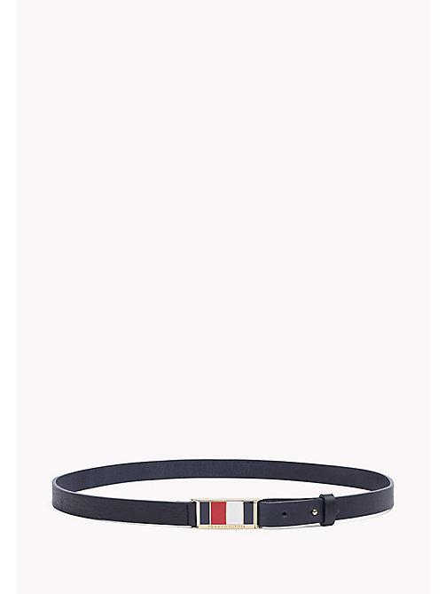 TOMMY HILFIGER Enamel Leather Belt - CORPORATE - TOMMY HILFIGER NEW IN - main image