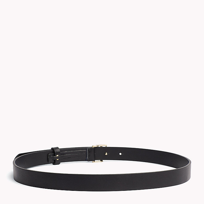 TOMMY HILFIGER Statement Buckle Leather Belt - LIGHT GOLD - TOMMY HILFIGER Women - detail image 1