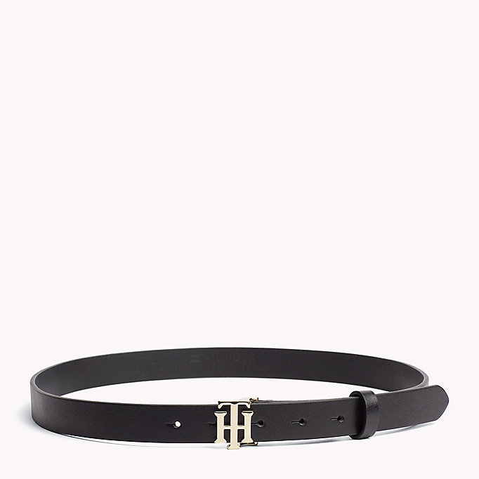 TOMMY HILFIGER Statement Buckle Leather Belt - LIGHT GOLD - TOMMY HILFIGER Women - main image