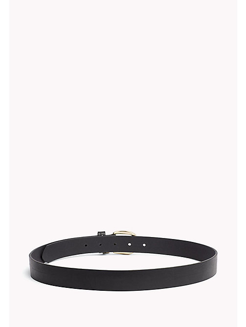 TOMMY HILFIGER Coin Charm Leather Belt - BLACK - TOMMY HILFIGER Belts - detail image 1