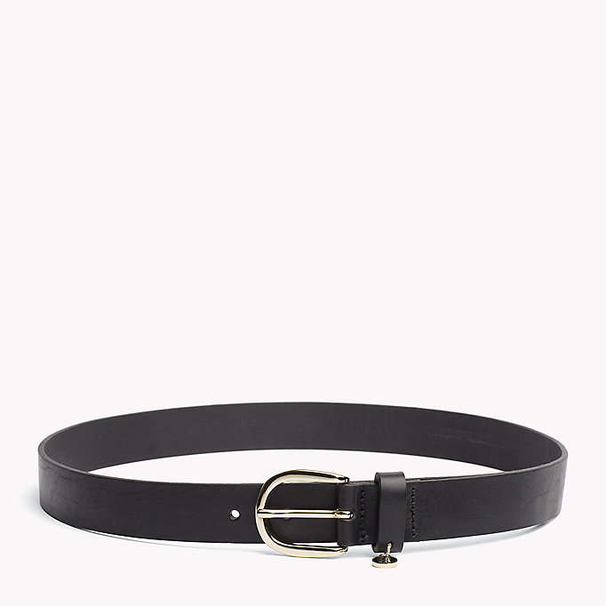 TOMMY HILFIGER Coin Charm Leather Belt - DARK TAN - TOMMY HILFIGER Women - main image