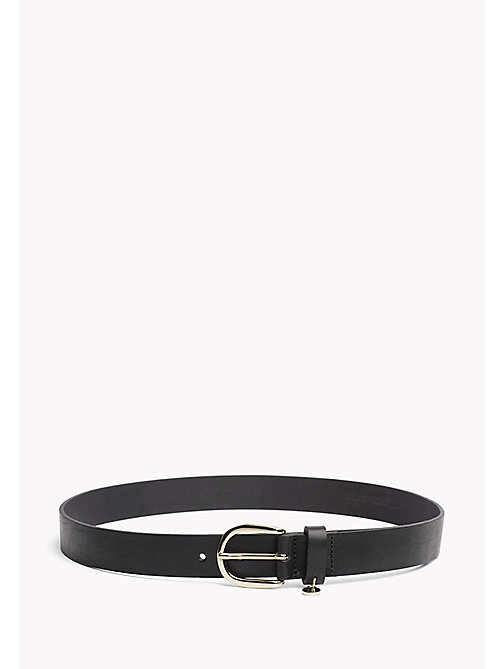 TOMMY HILFIGER Coin Charm Leather Belt - BLACK - TOMMY HILFIGER Bags & Accessories - main image
