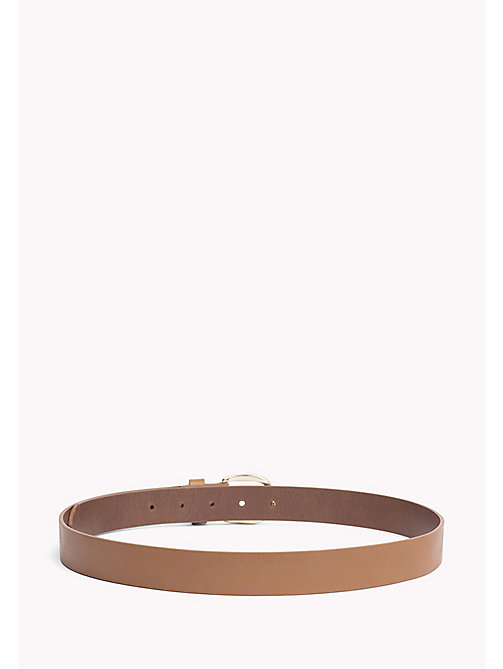 TOMMY HILFIGER Coin Charm Leather Belt - DARK TAN - TOMMY HILFIGER Bags & Accessories - detail image 1