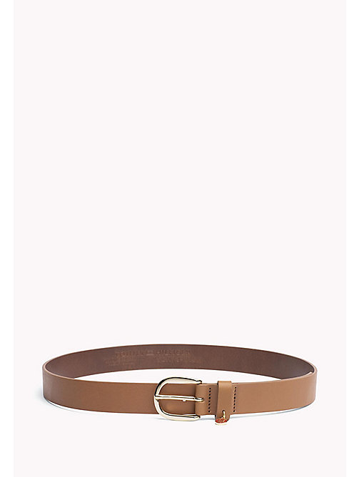 TOMMY HILFIGER Coin Charm Leather Belt - DARK TAN - TOMMY HILFIGER Gürtel - main image