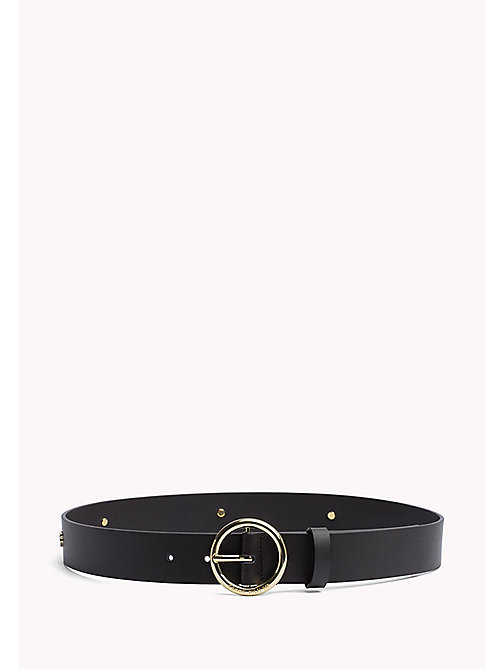 TOMMY HILFIGER Round Buckle Mascot Belt - BLACK -  Bags & Accessories - main image