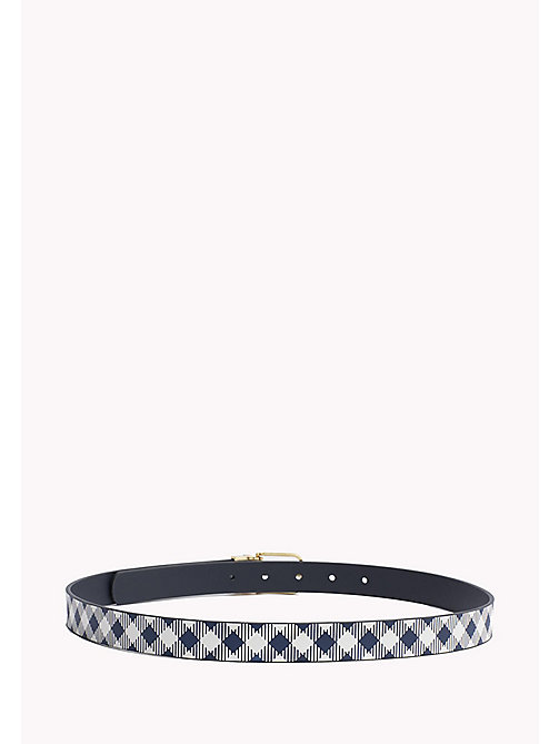 TOMMY HILFIGER Reversible Leather Belt - GINGHAM-TOMMY NAVY - TOMMY HILFIGER Belts - detail image 1