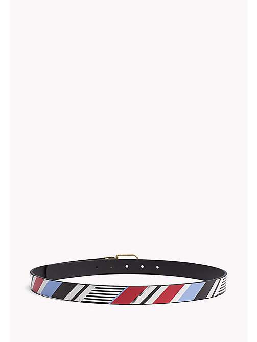 TOMMY HILFIGER Reversible Leather Belt - MULTISTRIPE-BLACK - TOMMY HILFIGER NEW IN - detail image 1