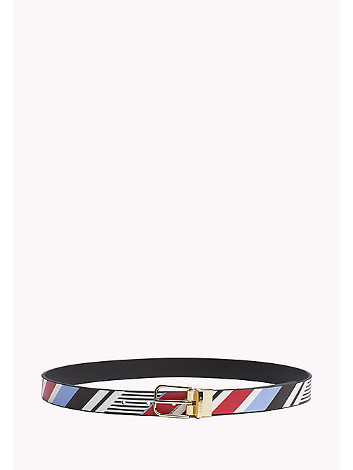 TOMMY HILFIGER Reversible Leather Belt - MULTISTRIPE-BLACK - TOMMY HILFIGER NEW IN - main image