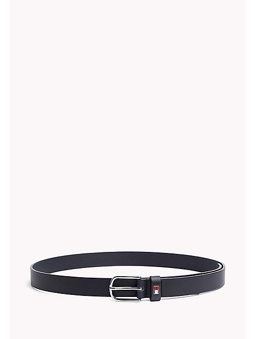TOMMY HILFIGER Metal Buckle Leather Belt - TOMMY NAVY - TOMMY HILFIGER Belts - main image