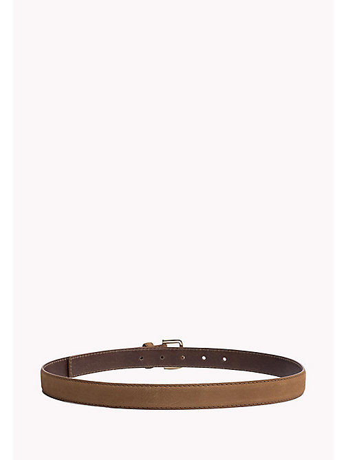 TOMMY HILFIGER Nubuck Leather Belt - COGNAC -  Bags & Accessories - detail image 1