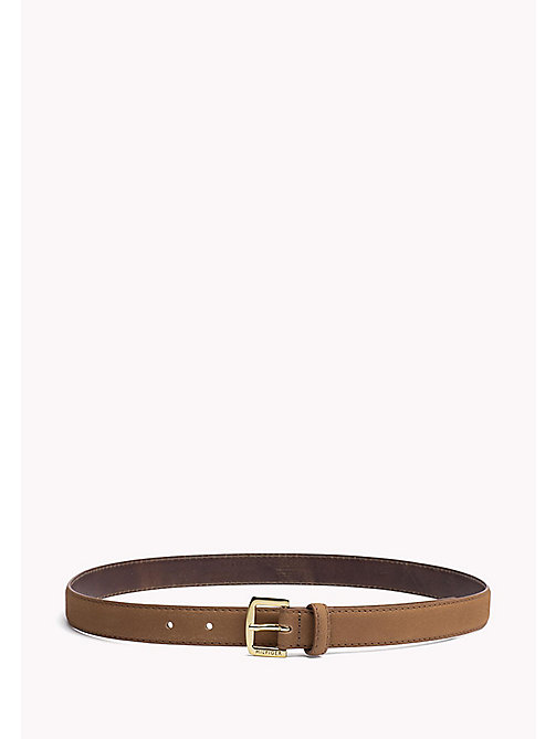 TOMMY HILFIGER Nubuck Leather Belt - COGNAC - TOMMY HILFIGER Bags & Accessories - main image
