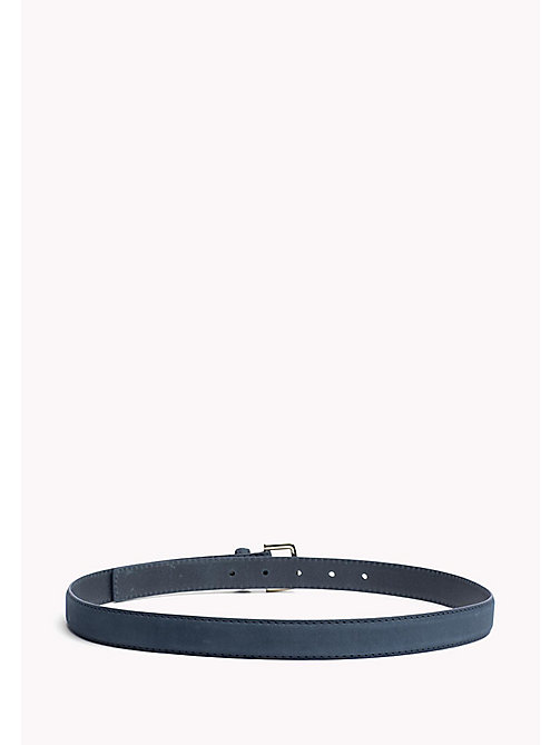 TOMMY HILFIGER Nubuck Leather Belt - DUTCH BLUE - TOMMY HILFIGER Belts - detail image 1