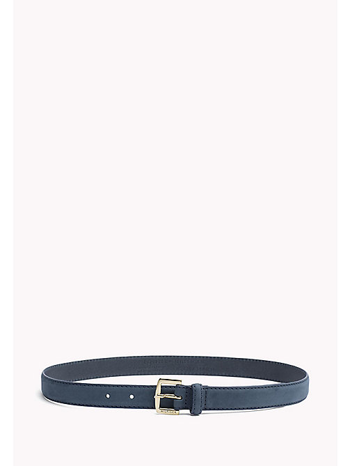 TOMMY HILFIGER Nubuck Leather Belt - DUTCH BLUE - TOMMY HILFIGER Bags & Accessories - main image