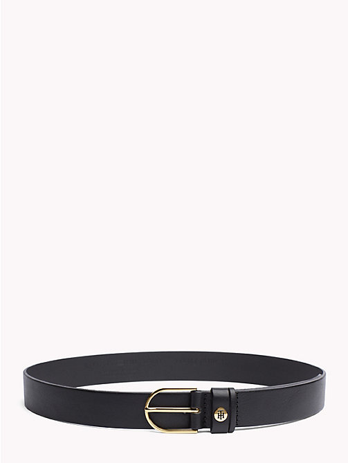 TOMMY HILFIGER Sleek Buckle Leather Belt - BLACK - TOMMY HILFIGER Belts - main image